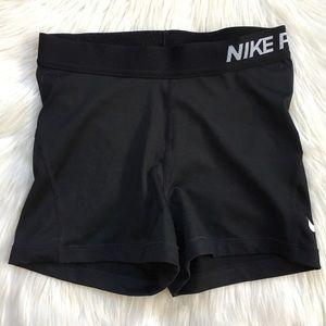 Nike Pro Running Mini Shorts Crop Legging Black S